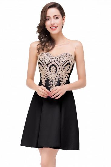 BMbridal Short Applique Sleeveless Prom Homecoming Dress_3