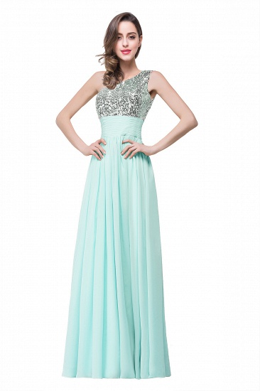 BMbridal A-line Floor-length Chiffon Evening Dress with Sequined_2