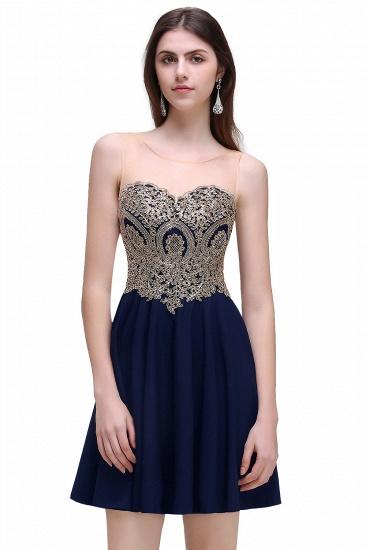 BMbridal Black Short A-line Homecoming Dress_1