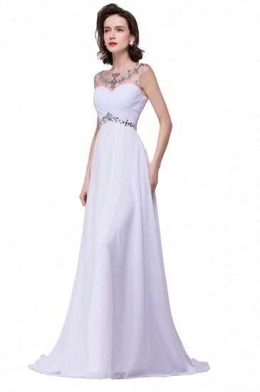 BMbridal A-line Sweetheart Chiffon Evening Dress With Crystal_8