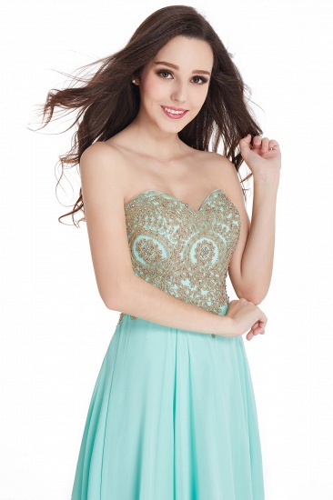 BMbridal Women's Strapless Embroidery Beaded Prom Formal Dress_9