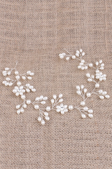 Pretty Alloy Imitation Pearls Special Occasion Party Hairpins Headpiece with Rhinestone_4