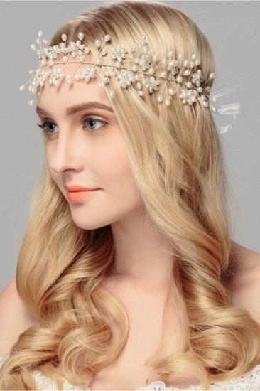Beautiful Alloy Imitation Pearls Party Headbands Headpiece with Rhinestone_5