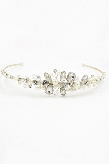BMbridal Glamourous Alloy Imitation Pearls Special Occasion Wedding Hairpins Headpiece with Crystal Rhinestone_1