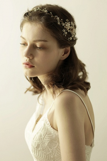 BMbridal Beautiful Alloy Rhinestone Special Occasion Headbands Headpiece with Imitation Pearls_8