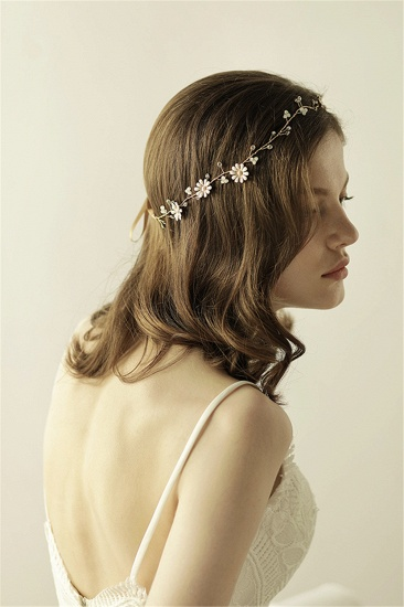 BMbridal Floral Alloy Party Headbands Headpiece with Rhinestone_7