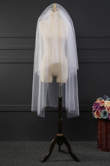 BMbridal Affordable Tulle Cut Edge Wedding Veil_1
