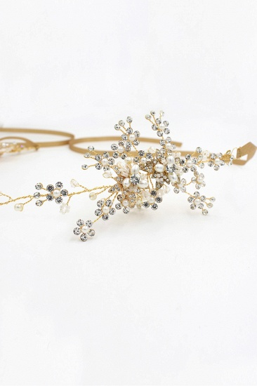 BMbridal Beautiful Alloy Rhinestone Special Occasion Headbands Headpiece with Imitation Pearls_10