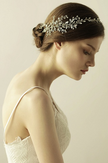 BMbridal Glamourous Alloy Rhinestone Special Occasion Wedding Headbands Headpiece with Crystal_8