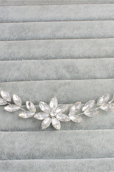 BMbridal Flower Alloy Rhinestone Special Occasion Hairpins Headpiece with Crystal_4