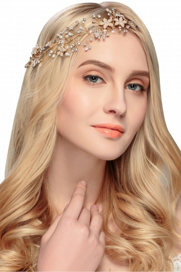 Elegant Alloy Imitation Pearls Special Occasion Party Headbands Headpiece with Rhinestone