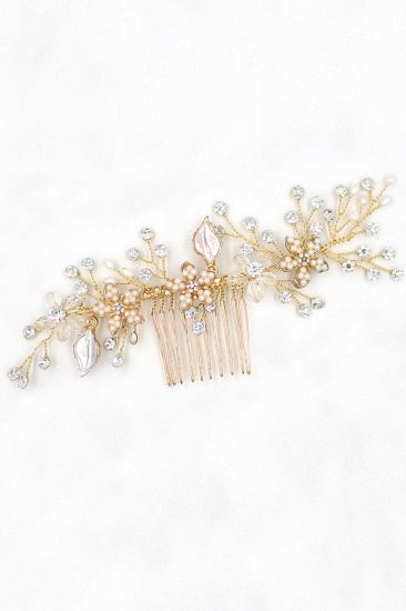 BMbridal Beautiful Alloy Rhinestone Wedding Combs-Barrettes Headpiece with Imitation Pearls_10