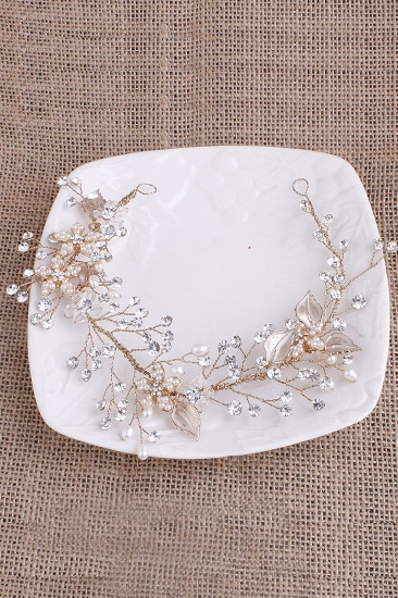 BMbridal Elegant Alloy Imitation Pearls Special Occasion Party Headbands Headpiece with Rhinestone_8