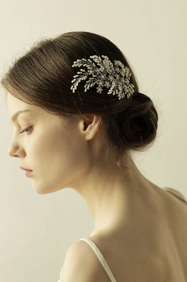 Elegant Alloy Imitation Pearls Special Occasion Combs-Barrettes Headpiece with Rhinestone_8