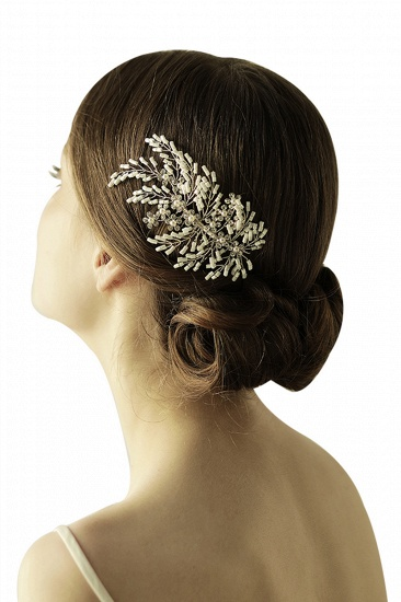 Elegant Alloy Imitation Pearls Special Occasion Combs-Barrettes Headpiece with Rhinestone_6