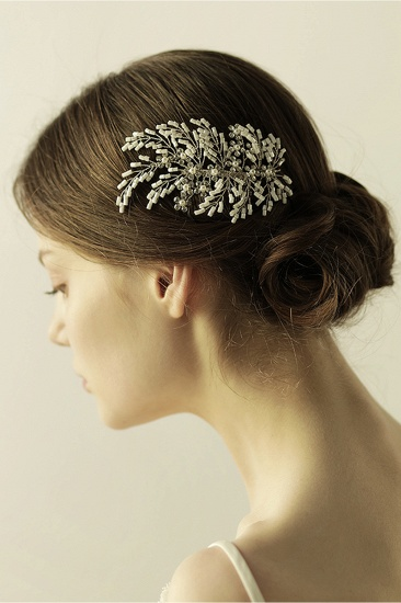 Elegant Alloy Imitation Pearls Special Occasion Combs-Barrettes Headpiece with Rhinestone_9