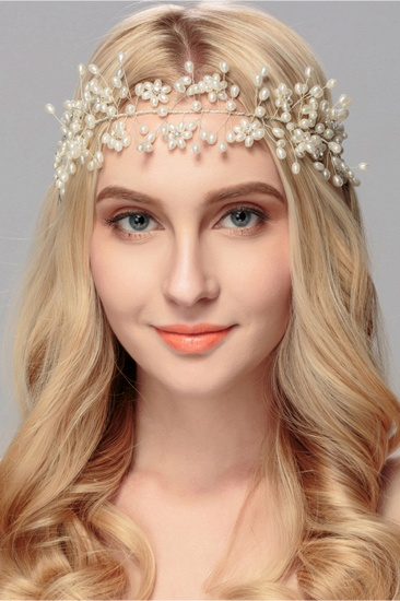 Beautiful Alloy Imitation Pearls Party Headbands Headpiece with Rhinestone