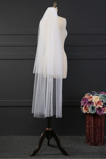 BMbridal Affordable Tulle Cut Edge Wedding Veil_4