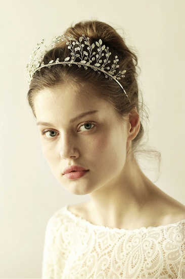 BMbridal Elegant Alloy Rhinestone Special Occasion Wedding Hairpins Headpiece with Crystal_6