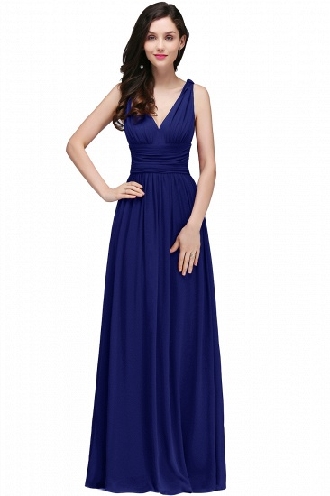 BMbridal Affordable Chiffon V-Neck Burgundy Bridesmaid Dress with Ruffle In Stock_5