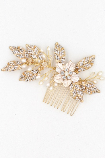BMbridal Beautiful Alloy Rhinestone Party Combs-Barrettes Headpiece with Imitation Pearls_10