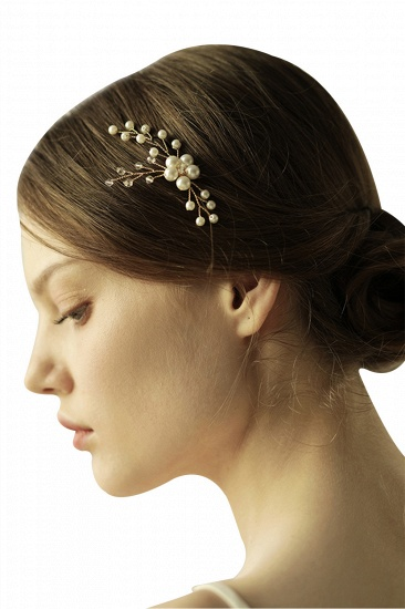 Pretty Alloy Daily Wear Hairpins Headpiece with Imitation Pearls_9