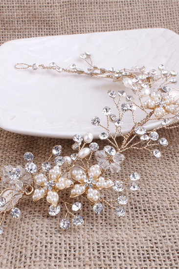 BMbridal Elegant Alloy Imitation Pearls Special Occasion Party Headbands Headpiece with Rhinestone_7