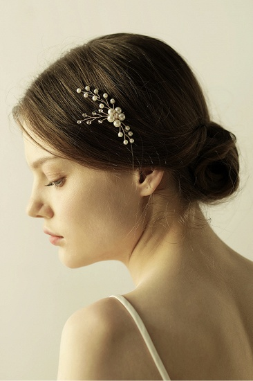 Pretty Alloy Daily Wear Hairpins Headpiece with Imitation Pearls_10