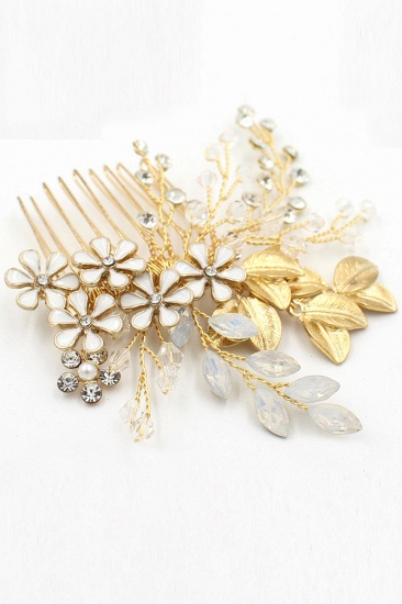 Glamourous Alloy Rhinestone Daily Wear Combs-Barrettes Headpiece with Crystal_9