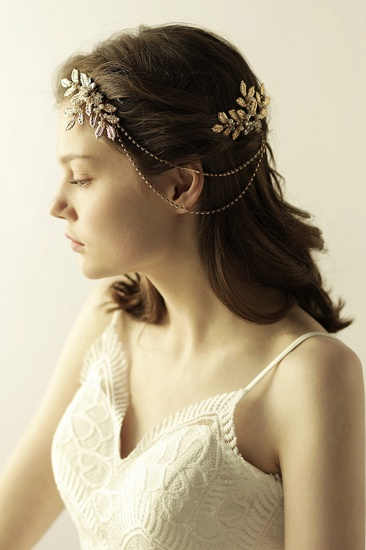 BMbridal Lovely Alloy Rhinestone Party Combs-Barrettes Headpiece with Imitation Pearls_4