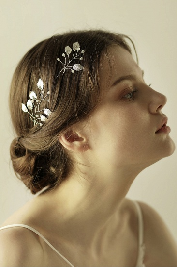 Beautiful Alloy Daily Wear Hairpins Headpiece with Imitation Pearls_7