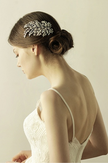BMbridal Elegant Alloy Imitation Pearls Special Occasion Combs-Barrettes Headpiece with Rhinestone_4