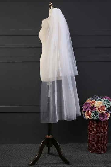 BMbridal Affordable Tulle Cut Edge Wedding Veil_5