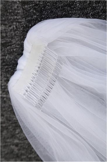 Princess Pretty Lace Cut Edge Wedding Veil with Appliques_5