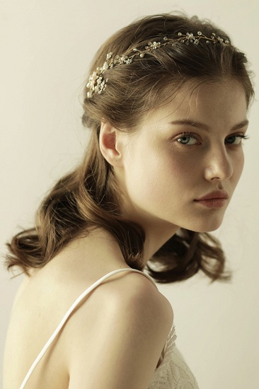 BMbridal Beautiful Alloy Rhinestone Special Occasion Headbands Headpiece with Imitation Pearls_2