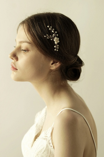 Pretty Alloy Daily Wear Hairpins Headpiece with Imitation Pearls_5
