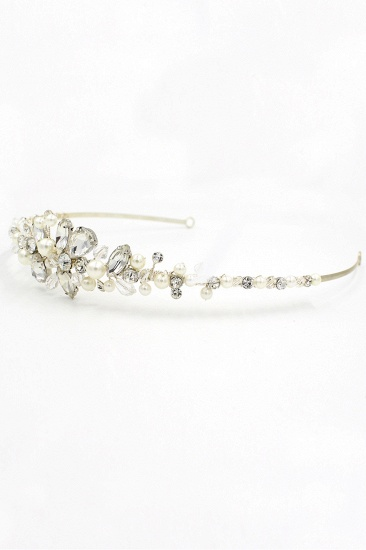 BMbridal Glamourous Alloy Imitation Pearls Special Occasion Wedding Hairpins Headpiece with Crystal Rhinestone_11
