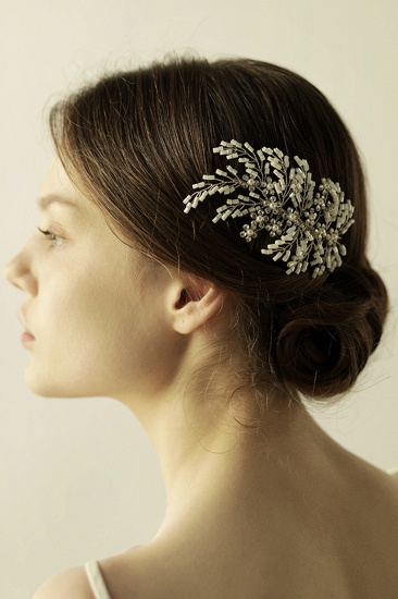 BMbridal Elegant Alloy Imitation Pearls Special Occasion Combs-Barrettes Headpiece with Rhinestone_5