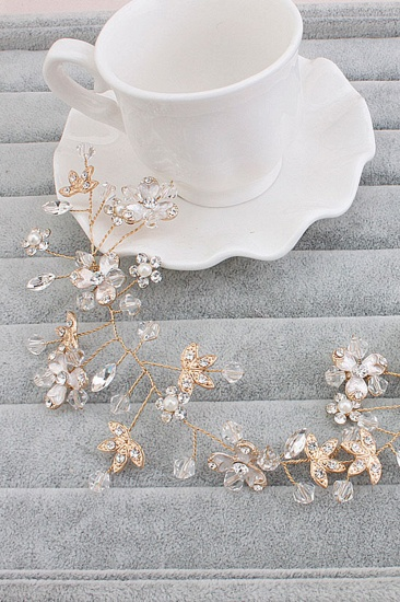 BMbridal Elegant Alloy Imitation Pearls Special Occasion Party Hairpins Headpiece with Crystal Rhinestone_8