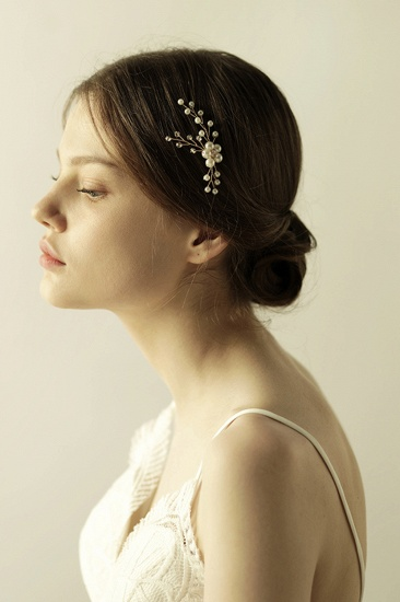 Pretty Alloy Daily Wear Hairpins Headpiece with Imitation Pearls_8