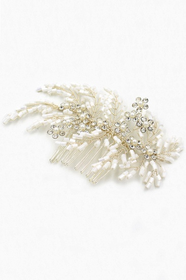 Elegant Alloy Imitation Pearls Special Occasion Combs-Barrettes Headpiece with Rhinestone_11