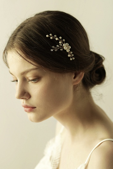 Pretty Alloy Daily Wear Hairpins Headpiece with Imitation Pearls_7