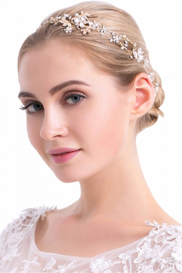 BMbridal Beautiful Alloy Imitation Pearls Special Occasion Hairpins Headpiece with Rhinestone