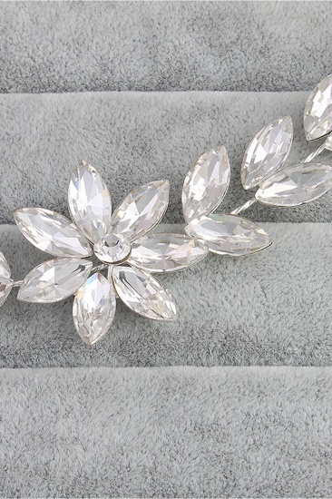 BMbridal Flower Alloy Rhinestone Special Occasion Hairpins Headpiece with Crystal_7