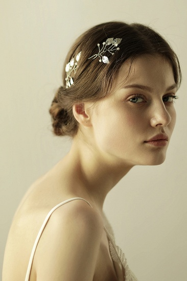 BMbridal Beautiful Alloy Daily Wear Hairpins Headpiece with Imitation Pearls_5