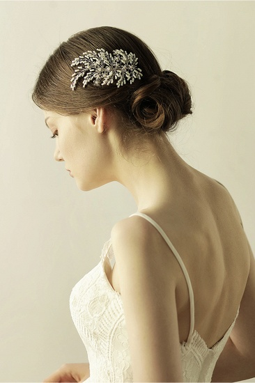 Elegant Alloy Imitation Pearls Special Occasion Combs-Barrettes Headpiece with Rhinestone_7