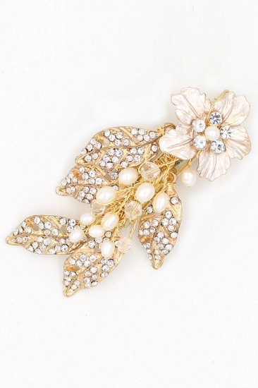 BMbridal Beautiful Alloy Rhinestone Party Combs-Barrettes Headpiece with Imitation Pearls_9