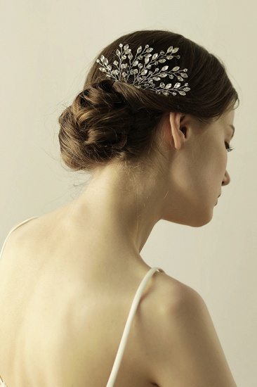 BMbridal Elegant Alloy Party Combs-Barrettes Headpiece with Crystal_5