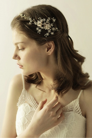 BMbridal Beautiful Alloy Rhinestone Special Occasion Headbands Headpiece with Imitation Pearls_9