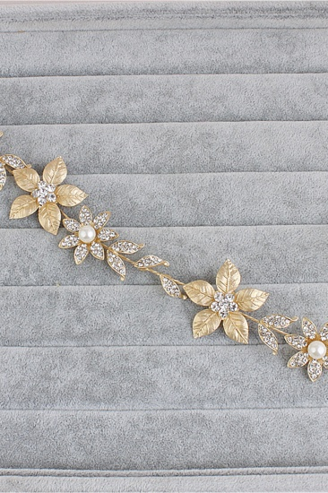 BMbridal Floral Alloy Imitation Pearls Daily Wear Hairpins Headpiece with Rhinestone_4